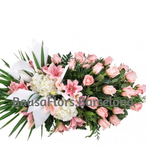 Palma Funeraria Rosa Suave